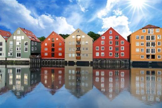 Photo maisons de couleur