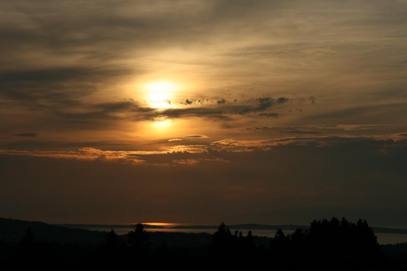 Coucher de soleil (Photo : © Mario Ouimet)